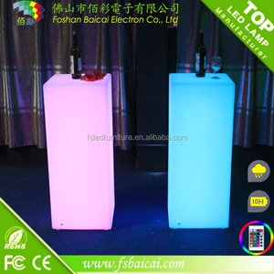 Plastic square Decorative Led Bar Table /RGB Led Cube Table Light / Square Led Bar Table