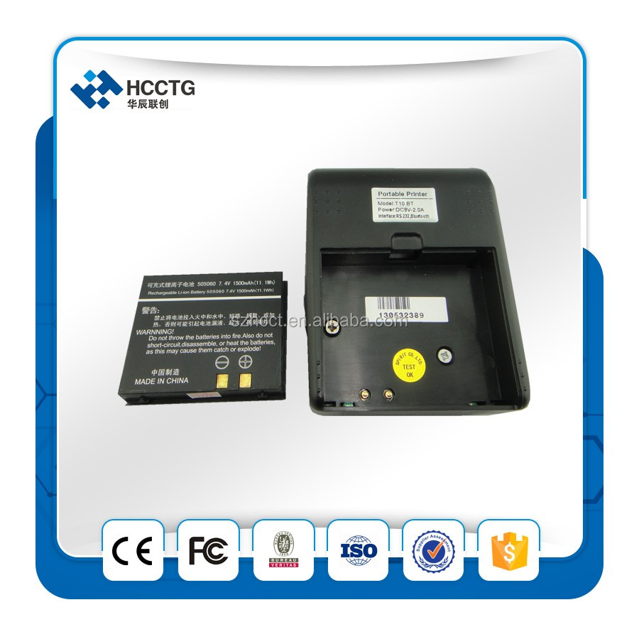 Android/iOS price 58mm Bluetooth thermal receipt printer HCC-T10, pos system supplier
