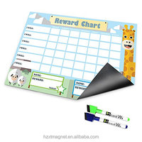 New Dry Erase Magnetic Reward Chart For 2 or 3 Kids In Home Kitchen Fridge magnets