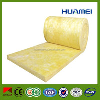 Acoustic fireproof Fibre prefab homes glass wool house Insulation Blanket