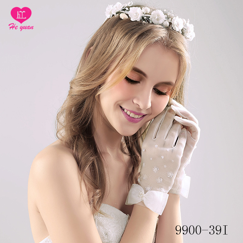 9900-39 Factory supply hot sale wedding hand gloves for bride
