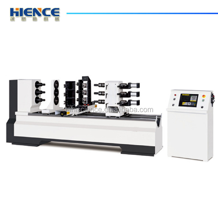 CNC precision wood automatic fluting and carving lathe H-T150D-TM