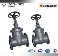 Carbon steel rising stem flanged plain gate valve dimensions