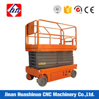 double post scissor lift hydraulic system aerial working platform