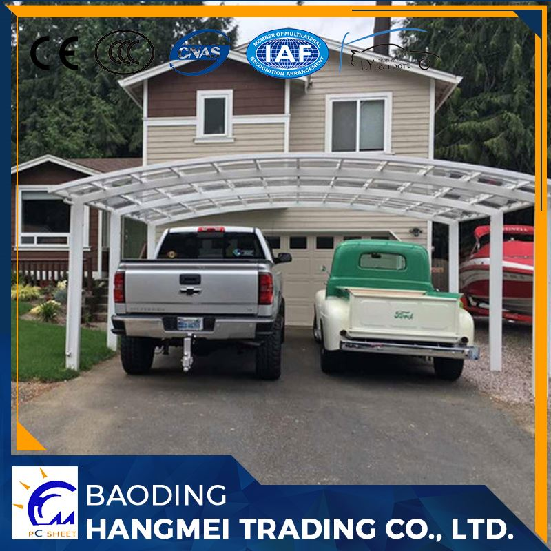 Outdoor aluminum solar carport