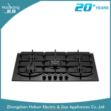 2016 lastest model tempered glass built-in type gas cooke/ gas stove