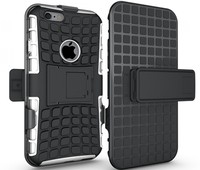 New arrival!! Rugged Hybrid Armor Hard Case Belt Clip Stand Case Cover for iphone 6