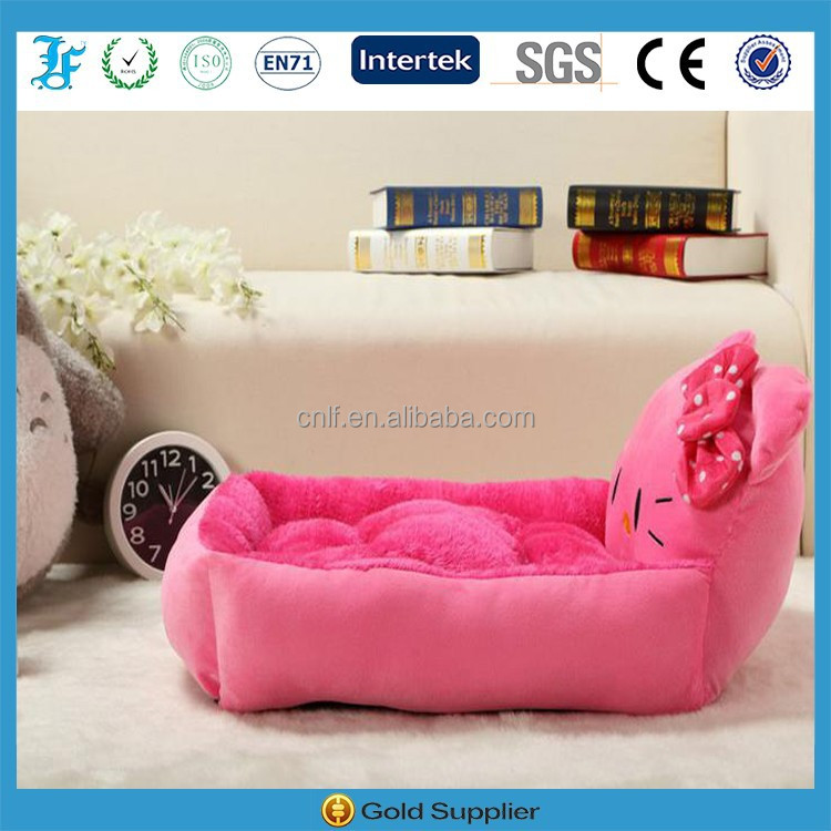 pink hello kitty shape cute cat bed