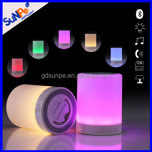 Hot sale rechargeable portable wireless bluetooth speaker with led color changing