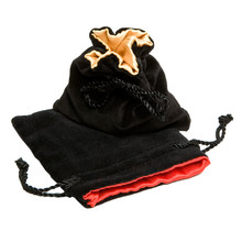 Wholesale Jewelry Drawstring Pouch Black Velvet bag with Satin Lined