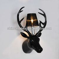2016 Hot Sale Popular Classic Indoor Decorative Simple Creative Lifesize Deer Head Wall Lamp Modern Light SH01WLRS0370