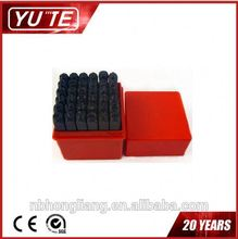 High quality OEM 36PCS 6MM number letter stamping set,oval hole punch,Number letter punch set