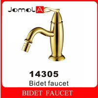 Single handle single hole Deck mounted Gold Bidet faucet