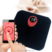 Bluetooth wireless body scale composition analyzer digital electronic bathroom scale with fat analyzer through smartphone APP