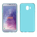 clear Transparent groove tpu mobile phone case for Samsung J400