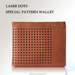 New arrival. laser dots wallet men in genuine leather
