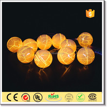 Customized Christmas low energy consume fairy led string lights with glass ball ornament