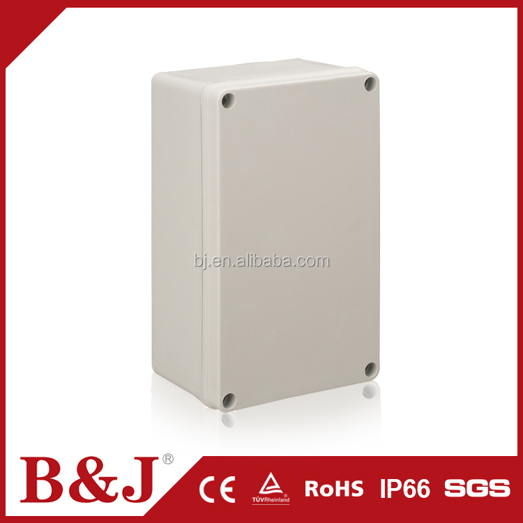 B&J Customized RAL7032 Electrical Utility Watertight ABS Plastic Box With Screws