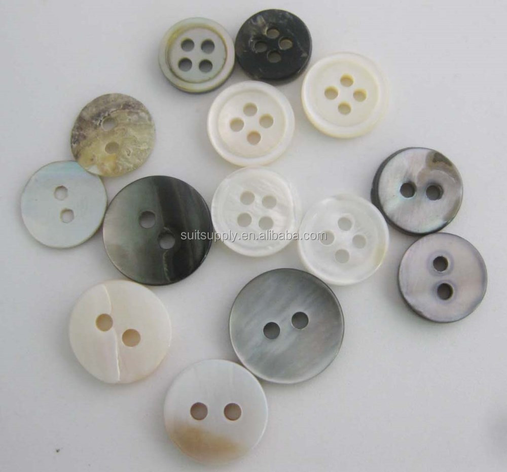 various sizes shirt buttons mother of pearl buttons smoking shell button