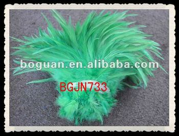 "4-6"" green color rooster feathers"