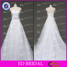 ED Bridal Real Photo A-Line Sweetheart Vintage Beading White Lace Wedding Dress