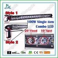 9-32v DC single rows 100w offroad bars 4x4 30inch offroad led light bar for 4WD UTV Offroad Jeep Truck SUV