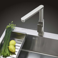 Brushed faucet stainless steel 304 single handle kitchen mixer tap