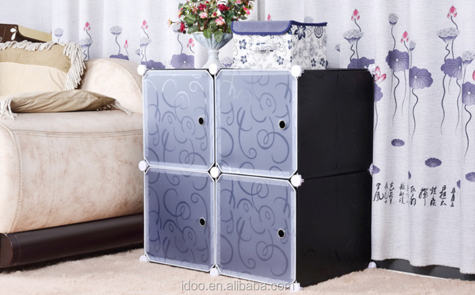 Pp plastic and wire frame bedroom furniture 4 cube cartoon wardrobe fh al0016 4 buy bedroom Plastic bedroom furniture