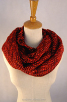 New fashion warm ladies knitted infinity scarf