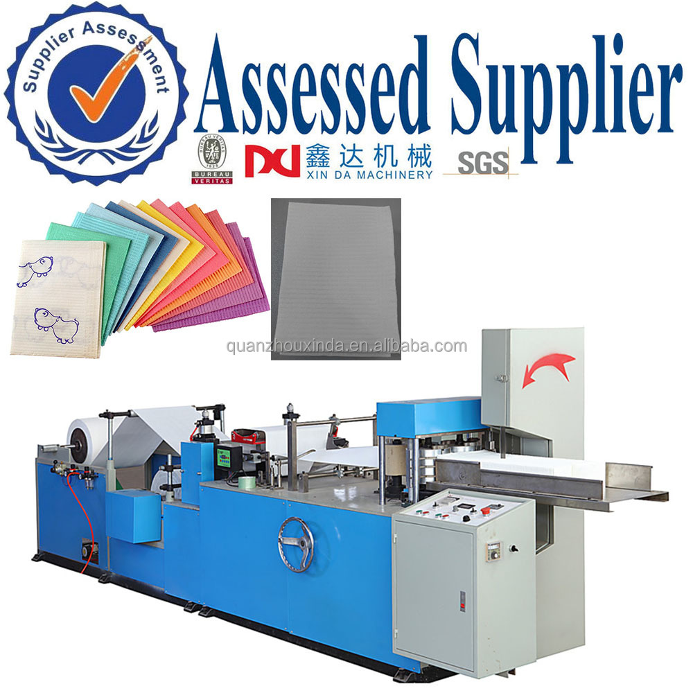 Equipment for Napkin Paper Disposable Medical Embossed Folding Dental Pad Machine Price Dental Napkin Printing Machine