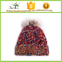 women men hat cap crochet knit oversized beanie