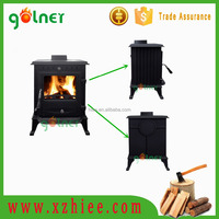 Indoor Cast iron wood burning stove, fire board for wood stove, cast iron enamel stove