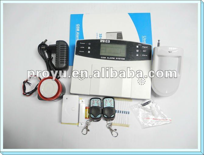 New Arrival LCD GSM alarm with wired and wireless alarm zones and standby rechargeable battery PY-GSM7