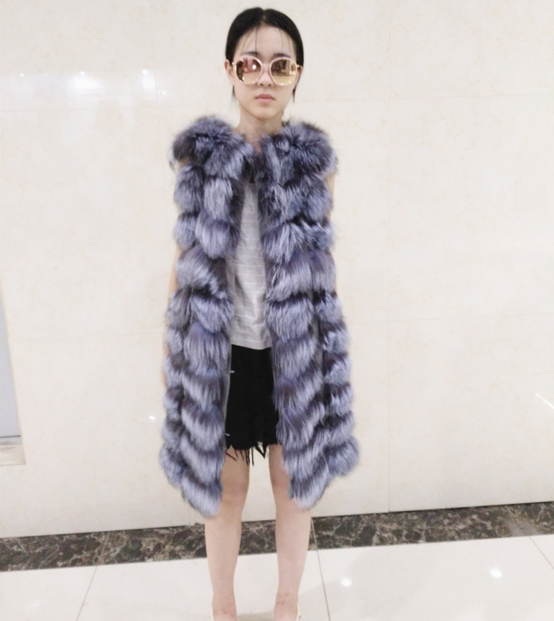 manufacturer Supplier Russian Style Winter Fox Fur Vest For Women