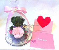 glass cake dome/cover or glass ornaments for Valentine's Day