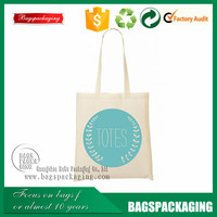 unique cotton muslin tote shopping bag with blue logo