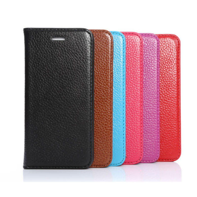 Book Style High Quality Leather Wallet Case for iphone6 Cover ,For iPhone 6 Card Holder Phone Case