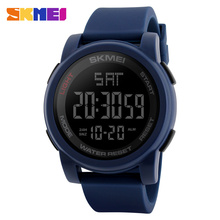 Wholesale #1257 skmei fashion simple digital watches of unisex dual time military watches of men women relojes al por mayor