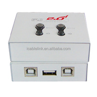 Hot USB 2.0 2 Port Auto Sharing Switch Hub box for Printer Scanner Keyboard