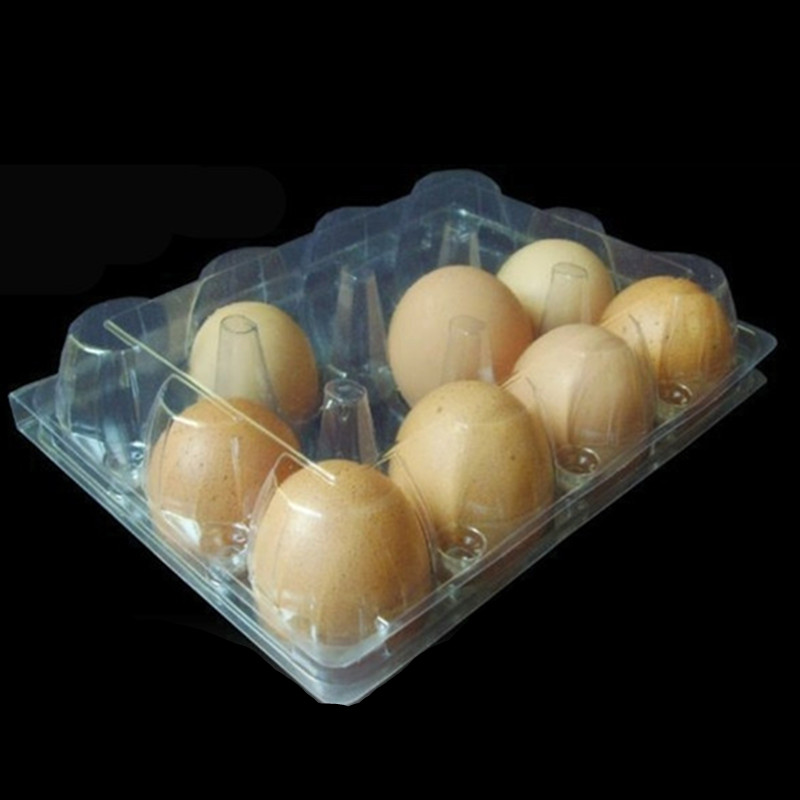 convenient and eco-friendly transparent plastic 12 packs egg tray crates with great price