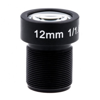"1/1.8"" EFL12mm FOV42D 10G M12 no distortion lens for CCTV Gopros with IR filter"