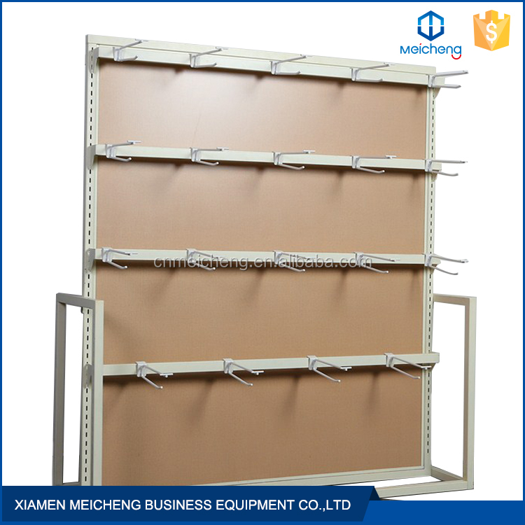 Competitive price customer size steel and wooden clothing display shelf