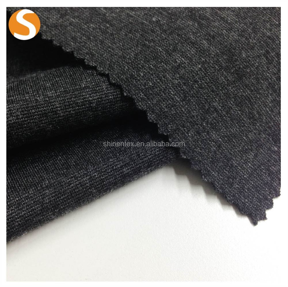 good elastic manufacturer plain dyed rayon nylon roma knitting fabric from shaoxing supplier
