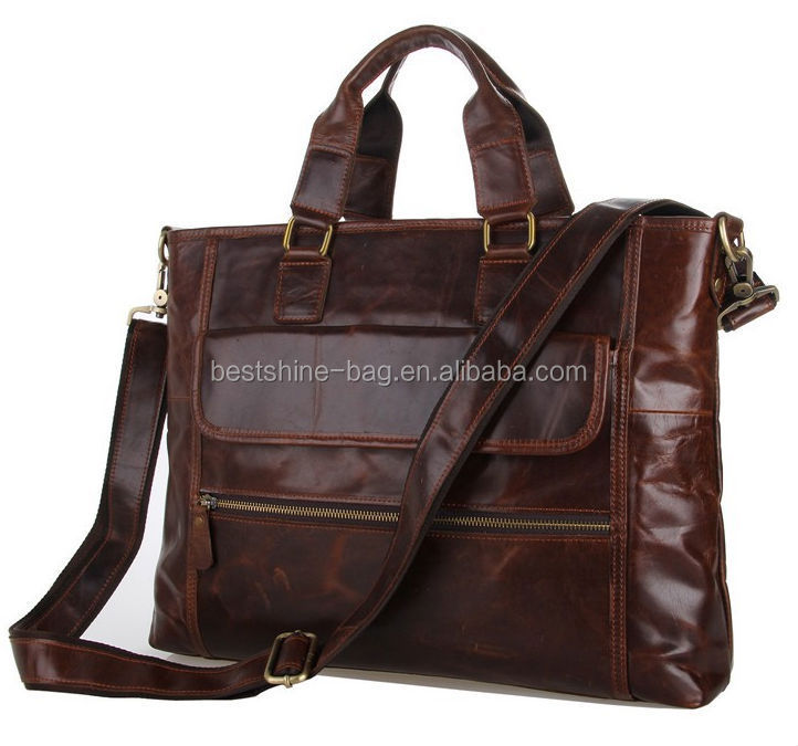 Manufacture hot sale genuine leather briefcase for lawyer