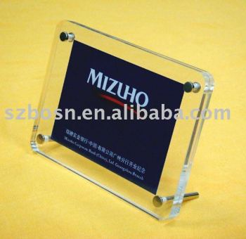 Acrylic Photo Display Stand,Perspex Photo Frame,Plexiglass Photo Block