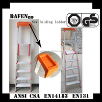 Export 3-8 Step Aluminium Ladder To En131 foldable easy store step ladder BF-155