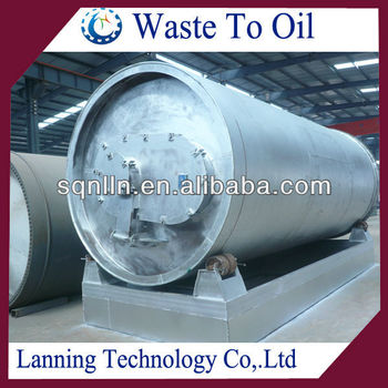 Newest supply for superior quality continuous tyre recycling pyrolysis machine with high oil output rate
