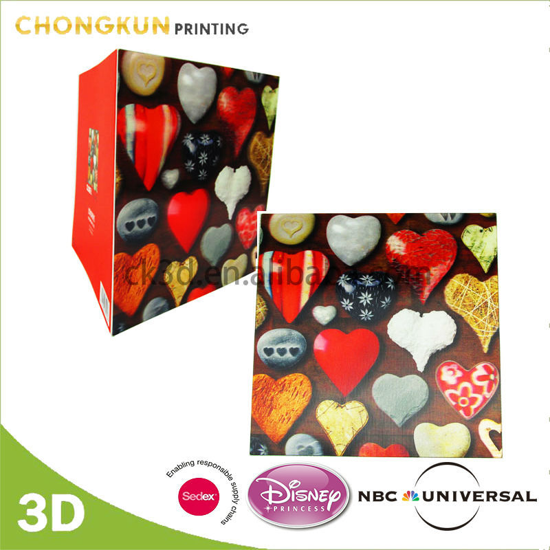custom 3d large size 123 greeting card