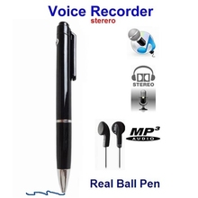 100% Brand New 4GB High Quanlity Professional Mini Digital Pen Voice USB Audio spy Recorder with MP3 Player