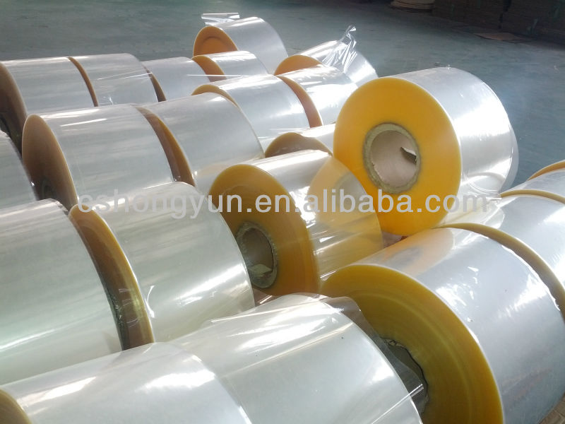 Tubular/sleeve PVC Shrink Film in roll form/PVC packaging film in reel